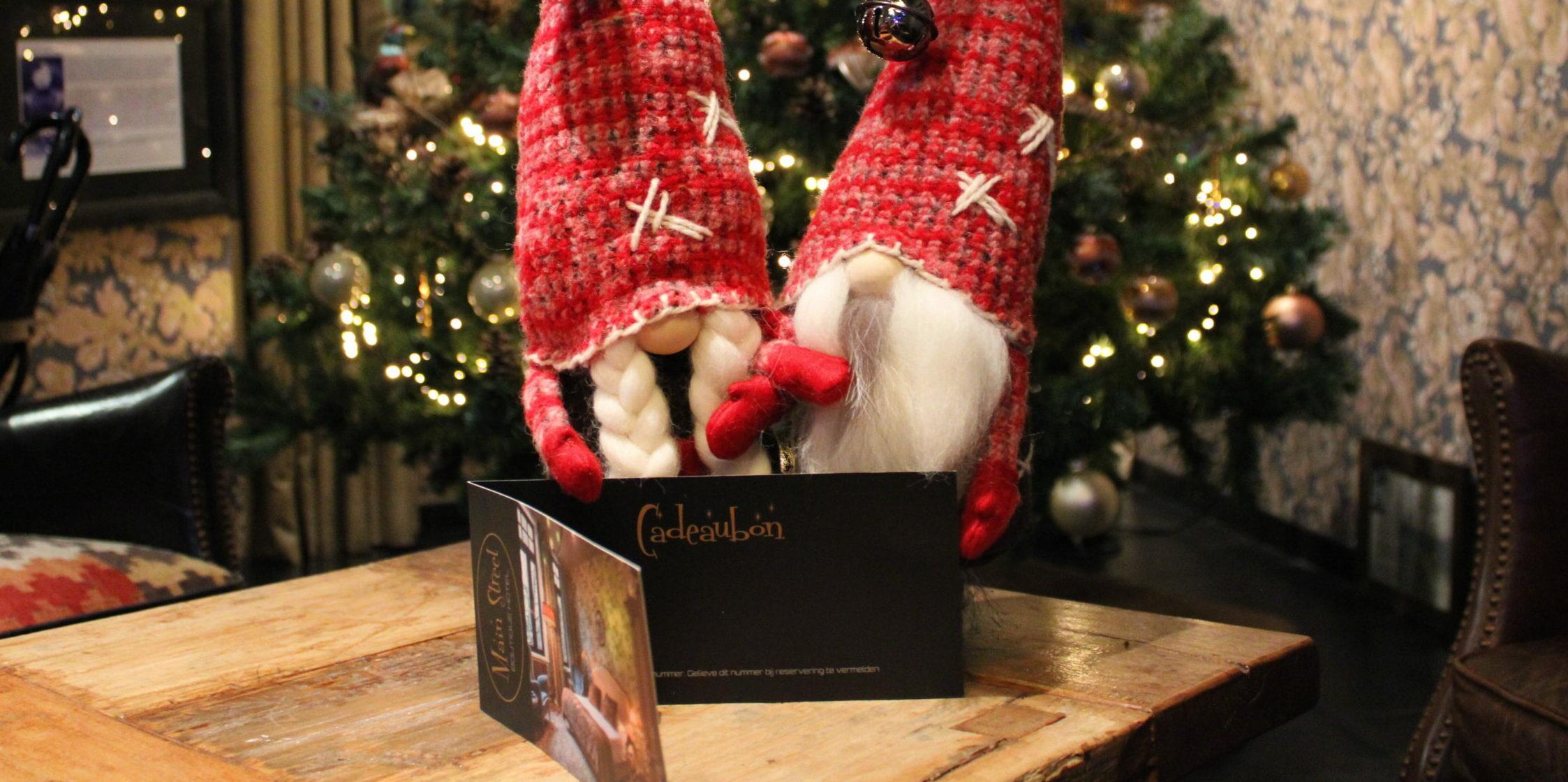 Cadeaubon met kerstsfeer